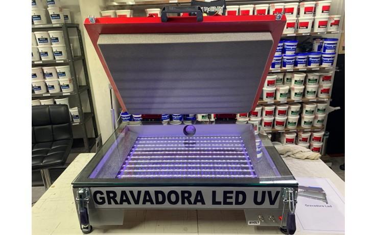 GRAVADORA DE LED UV COM TAMPA - DUPLA VOLTAGEM